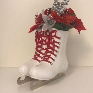 Ceramic Ice Skates Vase